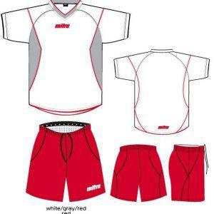 Στολή ποδοσφαίρου MITRE Sirial Σετ White-Gray-Red-Red