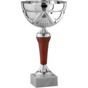 Κύπελλο ασημένιο Υ28cm, κούπα Ø16 με μπορντό και ασημένιο κορμό  & μαρμάρινη βάση (Κωδ:S37-0303)